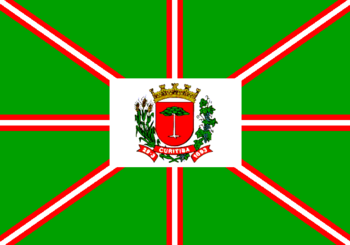 English: Flag of municipality of Curitiba, cap...