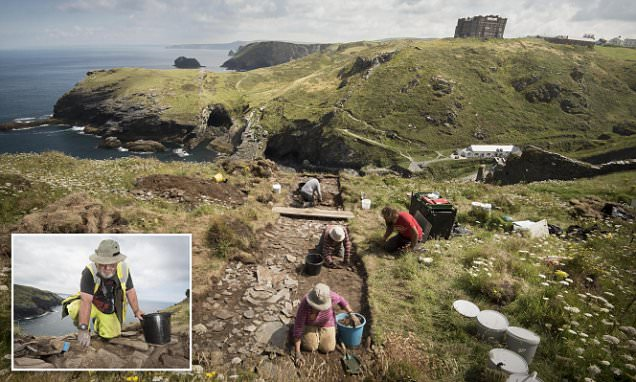Tintagel archaeologists unearth royal palace believed to be King Arthur's birthplace