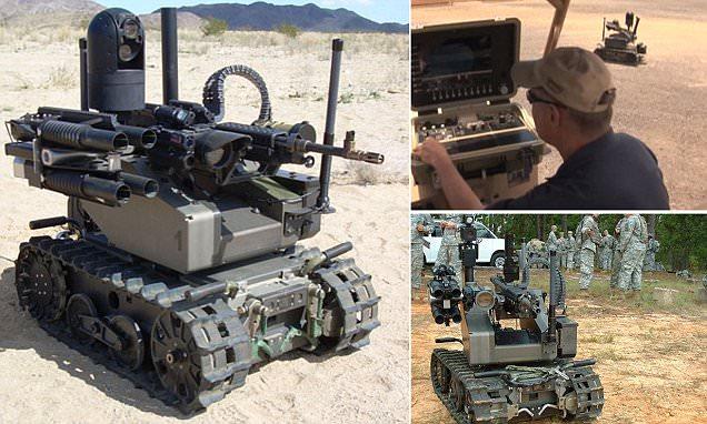 US Marines test machine gun wielding robot that can also throw grenades