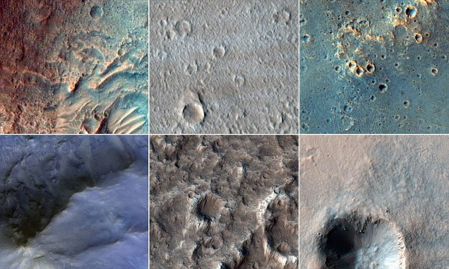 From narrow gullies to huge craters, stunning new images of Mars reveal the planet's