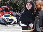 kylie jenner kanye west kris jenner car crash