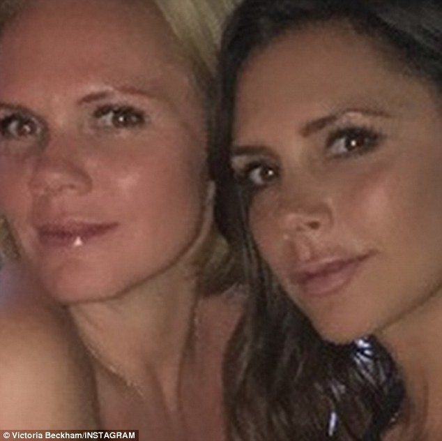 Seeing double: Victoria shared a snapshot of herself with her lookalike younger sister Louise Adams on Thursday