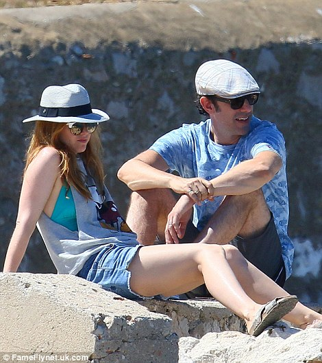 Cute couple: The pair certainly seemed to be enjoying their free time in the glorious - and popular - French Riviera
