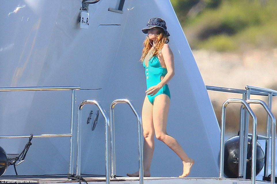 Always on form! The Aussie beauty deftly displayed her impressive physiques in her choice of skimpy swimwear