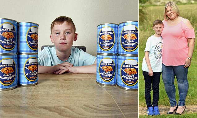The boy who ONLY ate sausages and beans is cured thanks to hypnotherapy