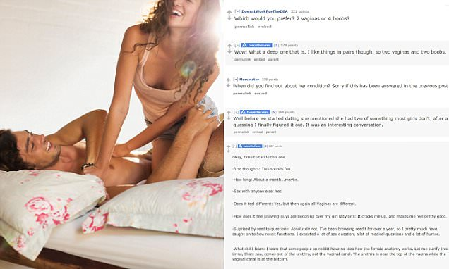 Reddit user who has a girlfriend with 2 vaginas opens up about their sex life