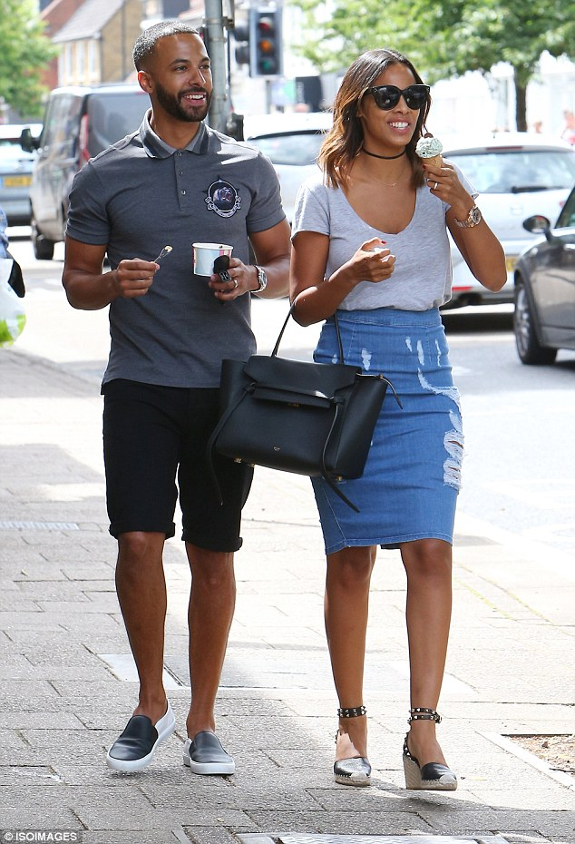 Details: Rochelle accessorised with an edgy choker and cool shades