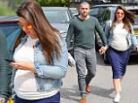 5.8.16...... Coronation Streets Shayne Ward and his pregnant girlfriend Sophie Austin are spotted in Cheshire on Friday afternoon.
