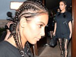 Beverly Hills, CA - Kim Kardashian and her close friend Brittny Gastineau wrap up  dinner at Il Pastaio in Beverly Hills. The KUWTK star wore hooped cornrow braids,a Pablo Paris graphic tee and thigh high lace-up boots. AKM-GSI      August 4, 2016 To License These Photos, Please Contact : Maria Buda (917) 242-1505 mbuda@akmgsi.com sales@akmgsi.com or Mark Satter (317) 691-9592 msatter@akmgsi.com sales@akmgsi.com www.akmgsi.com