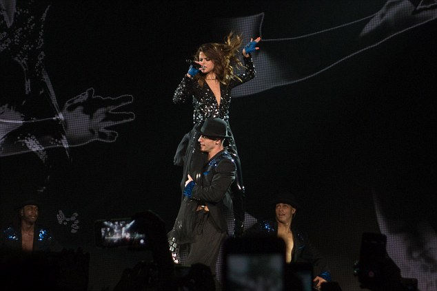 On top of the world: She wasn't afraid to take her performance to the next level