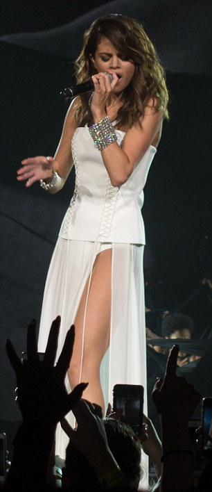 White on the mark: She exuded sass and style in this white coloured ensemble