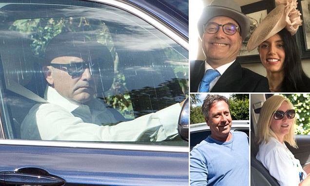 MasterChef's Gregg Wallace arriving at Hever Castle ahead of marrying Anne-Marie Sterpini