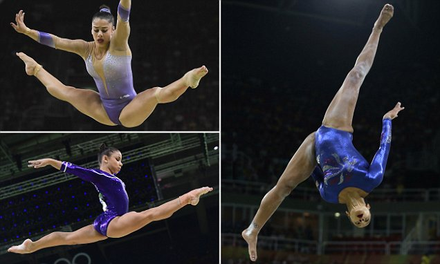 Spectacular photos show gymnasts' gravity-defying skills as they compete in Rio
