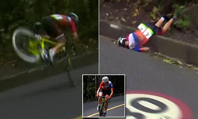 Dutch woman cyclist crashes while she's a few miles from winning Olympic gold