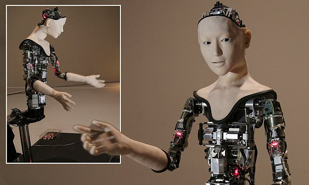 Alter the Japanese robot can control its own limbs and facial expressions