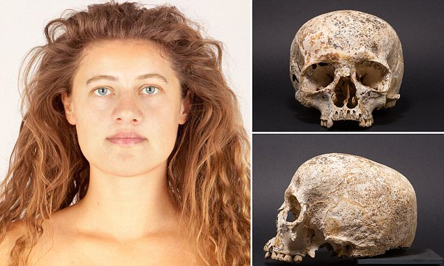 Scientists reconstruct the head of Bronze Age woman who died in the far north of Scotland