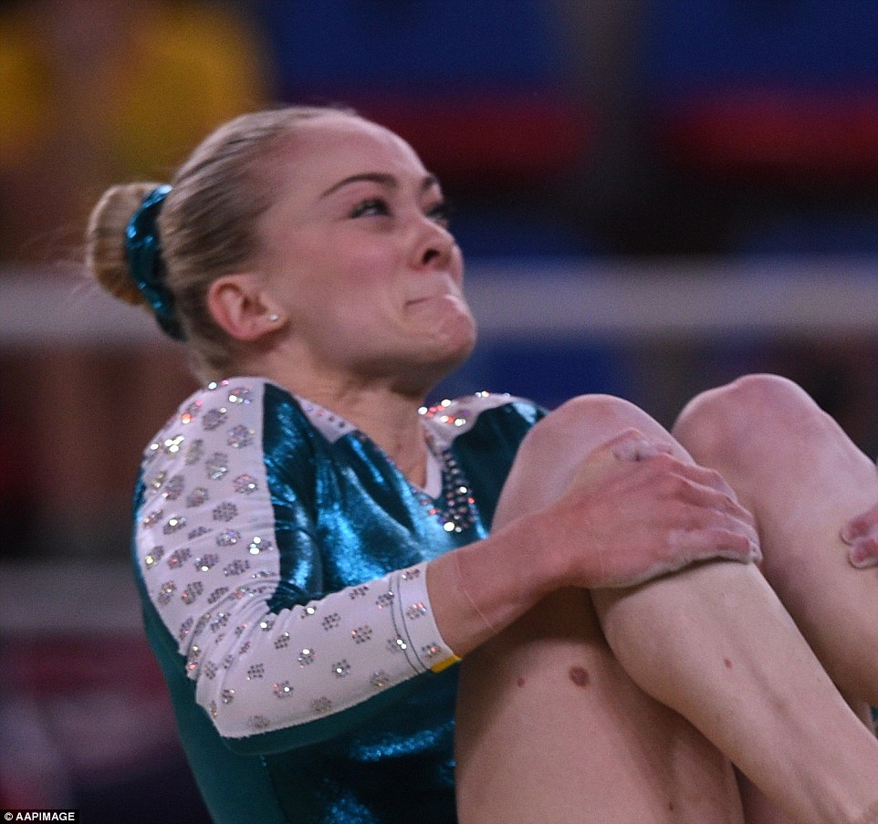 Australia's gymnast Larrissa Miller was left disappointed yesterday after her split second mistake cost her a place in the final but her efforts could not be doubted as she sported a look of utter concentration during a tuck