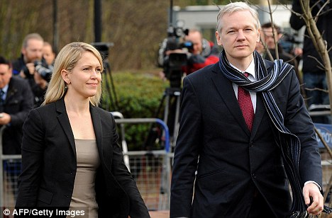 Rape Charges: WikiLeaks founder Julian Assange arrives with his lawyer Jennifer Robinson at court in London yesterday to discover if he was to be extradited to Sweden