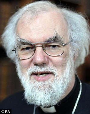 Archbishop: Dr Rowan Williams has kept his counsel since the protest began but has now backed the demonstrators
