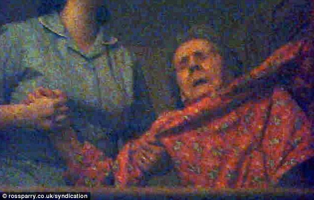 CCTV captures Ivy, 89, being dragged by carer Emma Bryan from a chair to her bed