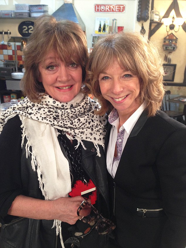 Still BFFs: The wedding, in September 2014, was two days before her 79th birthday, and saw the her former Corrie co-star Helen Worth (Gail McIntyre) leading the celebrity charge