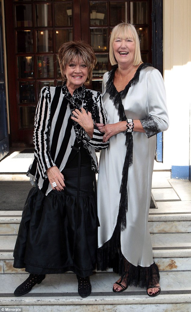 'I was terrified': Amanda Barrie, 80,  revealed it took her some time to be comfortable putting her personal life in the spotlight - but has now opened up about her marriage to Hilary Bonner