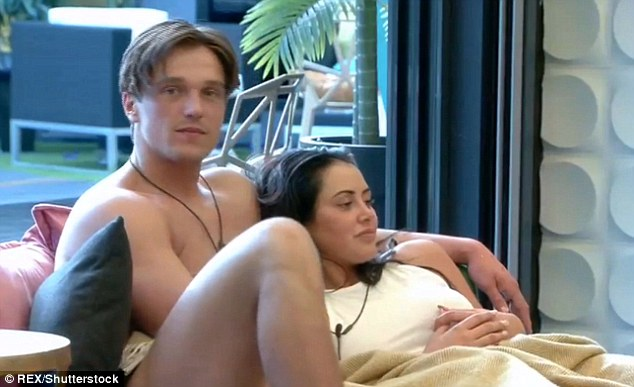 Magic touch: The couple got up close and personal earlier in the week, with Marnie giving Lewis a massage in the garden
