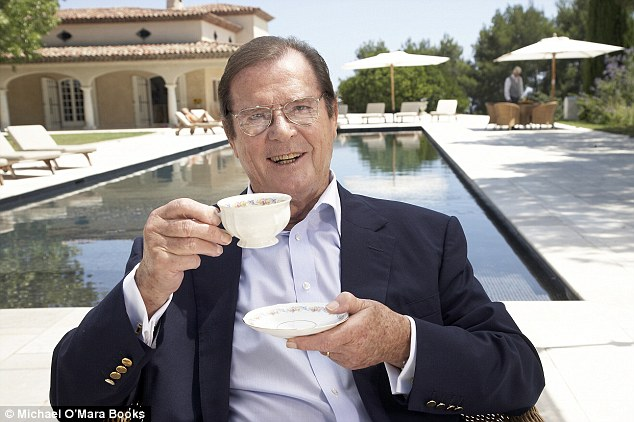 Dapper gent: Roger Moore, who has played James Bond more times than any other, has written a new memoir