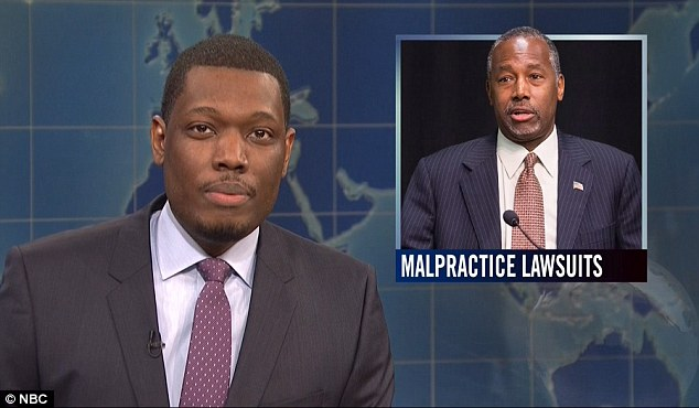 Some advice:'I never thought I'd say this but America, please pick anyone except the black guy,' said Michael Che