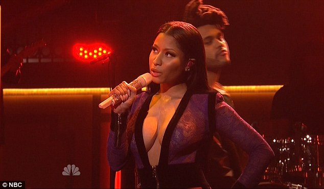 Surprise! Nicki Minaj made an unannounced appearance with The Weeknd as the musical performance