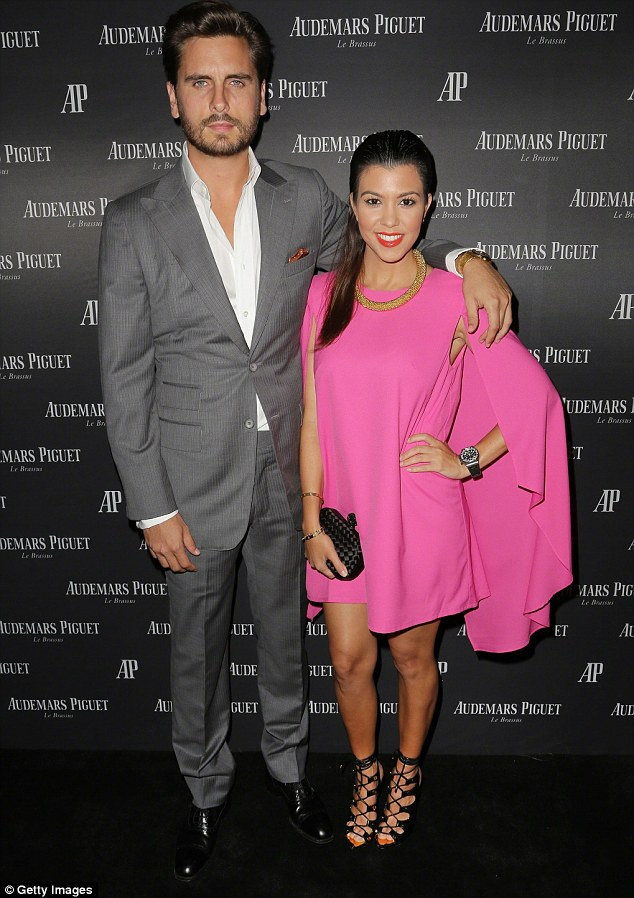 Friendly exes: Scott and his ex-girlfriend Kourtney (pictured in 2013) split one year ago but have remained on good terms