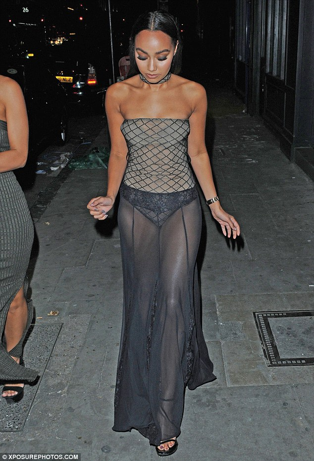 Going solo:She was without her band-mates on Friday evening, but Leigh-Anne Pinnock didn't need company to command attention as she stepped out in London