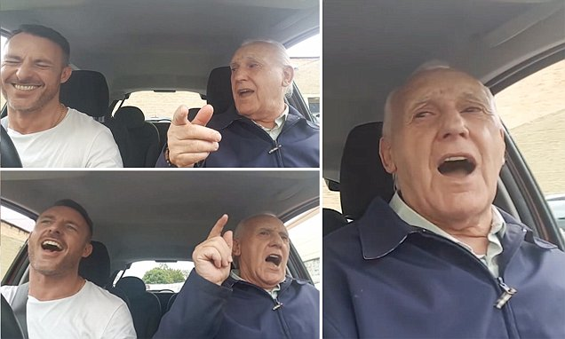 Heartwarming video shows 79-year-old man with Alzheimer's singing his heart out with son