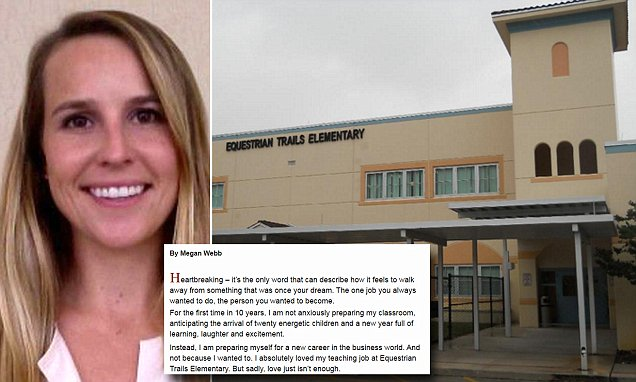 Florida teacher's open letter about why she's quitting her job after ten years goes viral