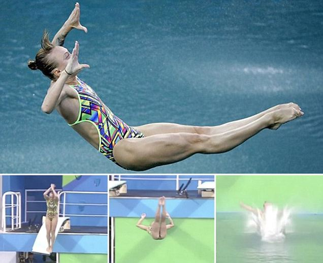 Russian diver Nadezhda Bazhina gets zero points after embarrassing back flop