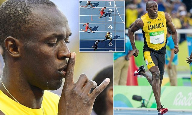 Usain Bolt eases through the heats in 100m at the Rio Olympics