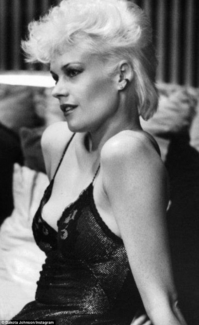 'Dang, girl': On Tuesday, the Texan posted a pair of Instagram photos for her mother Melanie Griffith's 59th birthday, showing Griffith in some of her better-known films