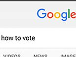 This image provided by Google shows on a mobile device a summary box detailing state voting laws at the top of the search results whenever a request indicates a user is looking for the information. Google begins the how to vote feature in Google Search on Tuesday, Aug. 16, 2016, pulling another lever on its influential search engine in an effort to boost voter turnout in November¿s U.S. presidential election. (Google via AP)