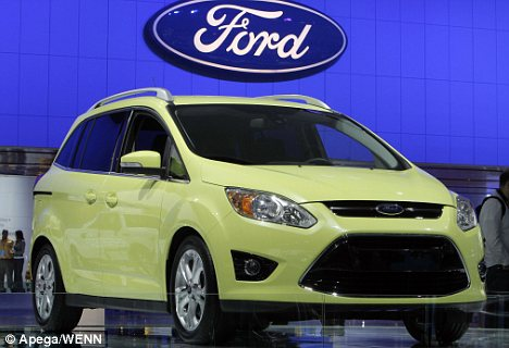 The future's bright: The Ford C-Max minivan is one of a huge range of new cars being displayed in Detroit