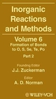 Inorganic Reactions and Methods, Volume 6, Formation of Bonds to O, S, Se, Te, Po (Part 2) (0471246778) cover image