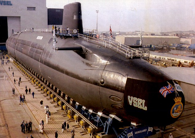 The Royal Navy is struggling to recruit young people as they are no longer willing to tolerate the isolation of underwater life. Pictured is theHMS Vanguard Royal Navy Submarine At Barrow in Furness