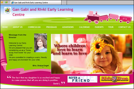 Website of the Holtzberg East Bentleigh kindergarten.