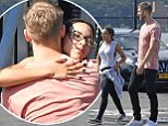 08/17/2016\nEXCLUSIVE: Calvin Harris is spotted hugging a female companion before flying out of New York City with a group of friends via a helicopter. The 32 year old songwriter and DJ embraced a female on the tarmac of a New York city heliport today. Looking cool in peach colored top and black skinny jeans the former flame of Taylor Swift along with his female companion were seen smiling and laughing as they waited for their luggage to be loaded on to the aircraft. VIDEO AVAILABLE\nPlease byline:TheImageDirect.com\n*EXCLUSIVE PLEASE EMAIL sales@theimagedirect.com FOR FEES BEFORE USE