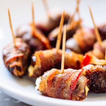 Bacon Wrapped Dates-14