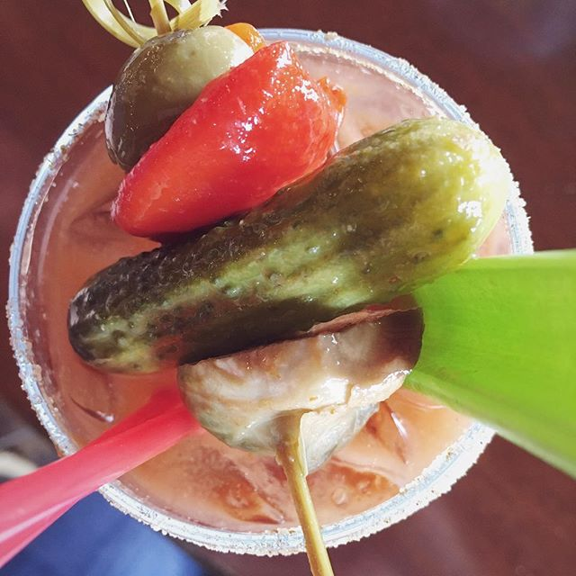 It's not brunch without a Bloody Mary! #366 #photoaday