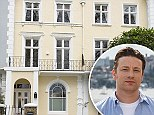 ***PLEASE LEAGAL FOR PUBLISHING OF CELEBS HOUSE FRONT*** Celebrity chef Jamie Oliver is set to make a bit more dough after putting his north London townhouse (pictured) on the market for �12million.jpg