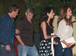 EXCLUSIVE: George and Amal Clooney seen having dinner with close friend Cindy Crawford and her husband Rande Gerber at Nobu in Los Angeles, CA. <P> Pictured: George and Amal Clooney and Cindy Crawford and Rande Gerber  <B>Ref: SPL1337485  190816   EXCLUSIVE</B><BR/> Picture by: Splash News<BR/> </P><P> <B>Splash News and Pictures</B><BR/> Los Angeles: 310-821-2666<BR/> New York: 212-619-2666<BR/> London: 870-934-2666<BR/> photodesk@splashnews.com<BR/> </P>