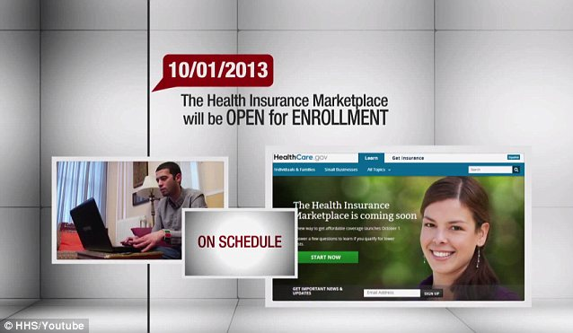 In a Web video published during the summer, the Dept. of Health and Human Services insisted it was delivering Obamacare, and its insurance exchange website, 'on schedule'