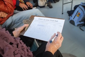 A petition calling for Duke Energy to clean up its Sutton Plant's coal ash ponds and disclose its plan to do so was disseminated during Saturday's tour.