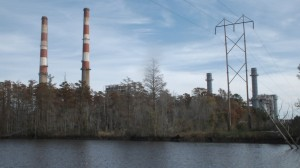 The Sutton Plant's coal-fired units are slated to be taken offline by the end of the year. The tall smokestacks would be dismantled once the units are decommissioned.